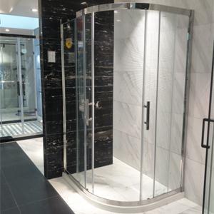 德立淋浴房移门式卫生间隔断不锈钢玻璃弧形定制整体淋浴房